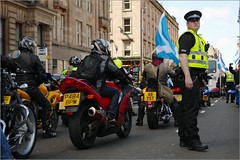 Hope Over Fear Rally Glasgow (Ben.Allison36) Tags: hope scotland election general glasgow fear rally over police motorbike motorcycle scooters 2015