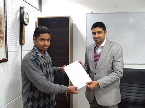 Jatinder Singh Receiving Australia Study Visa From Director