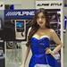 Sexy presenter for Alpine Car Sound Systems at the 36th Bangkok International Motor Show