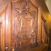 Carved wood paneling