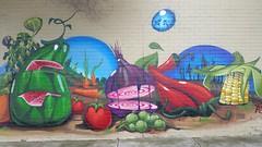 Ghost... (colourourcity) Tags: streetart vegetables fruit graffiti corn chili ghost letters melbourne watermelon carrots onion burner maize wildstyle nofilters burncity bigburners colourourcity elghosto bunsenburenrs colourourcityoz