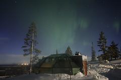Igloo Under Fading Light (AliJG) Tags: winter finland lights europe lapland levi northern auroraborealis photographyworkshop photoquestadventures goldencrowniglut