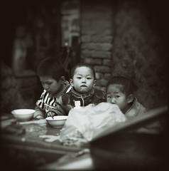 (Adamina Lisiecka) Tags: china 6x6 film childhood dinner children square asia hasselblad