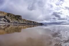 An interlude (pauldunn52) Tags: storm heritage beach wet wales stairs reflections coast sand cliffs glamorgan wick whitmore monknash