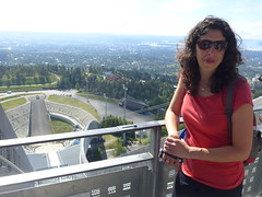 the view from the Holmenkollen ski jump (Oren & Shimrit) Tags:       oslo akershus fortress norway viking vikings storting parliament opera house operahuset oslofjord frogner park vigeland sculpture bygdy peninsula museum holmenkollen ski jump jernbanetorget square rdhus city hall nobel peace prize barcode project the scream edvard munch madonna norsk folkemuseum norwegian cultural history gol stave church center kontiki fram thor heyerdahl vikingskiphuset ship oseberg national gallerycomfort hotel grand central