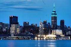 Blue Empire (Lojones13) Tags: newyork skyline night cityscape empirestatebuilding bluehour nikond7000