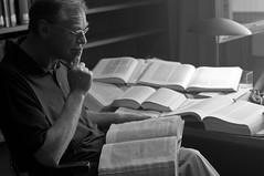 A Historian's Research (c-u-b) Tags: portrait man history germany buch lesen deutschland reading university reader historian books portrt research mann universitt bcher geschichte forschung historiker leser
