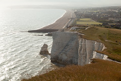 Evening, Seaford Head | Seven Sisters walk | July 2016-59 (Paul Dykes) Tags: southdowns southdownsway southcoast coast cliffs sea shore coastal englishchannel sussex england uk seaside sun sunnyday chalk downs hills countryside