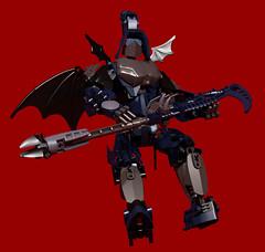 Revotain [Hunter] 2 (Folisk) Tags: digital factory lego pov designer bat hero bionicle scythe moc ldd ccbs