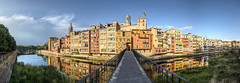 Pont d'en Gmez, Girona (E) (Panoramyx) Tags: onyar gerona girona girons catalunya catalugna catalogne catalonia katalonien kataloni catalua espaa spanien spain espagne spagna spanje espanya panorama panoramica hdr panoramic landscapes catalogna pont puente ponte bridge brcke brug