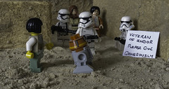 Veteran (LegoLee) Tags: endor lego starwars desert minifigure minifig stormtrooper empire firstorder wall sign humor humour