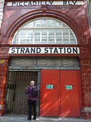Strand station (moley75) Tags: london andy strand gate centrallondon strandstation closedstation piccadillyrly