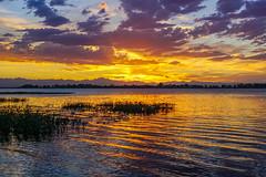 Barr Lake - Sunset[Explored] (BernieErnieJr) Tags: barrlakestatepark frontrange greatphotographers teamsony rockymountains sonya77mkii sony24mm colorado water reflection sunset clouds mountains
