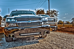 22 (Strangely Different) Tags: diesel chevy 1500 powerstroke ford silverado slammed jacked force american 22x14 1958 delray