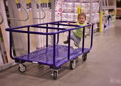 Cart climb (Scott SM) Tags: toddler two year old 25 lowes shopping cart ride climb