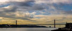 25 april bridge - Lisboa (Bouhsina Photography) Tags: pont 25avril lisbonne lisboa portugal bridge sky clouds rio tejo water eau rivire bouhsina bouhsinaphotogrphy canon 5diii ef247028ii stunning wow
