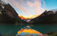 160620_01 (LoomahPix) Tags: ab alberata canada lake lakelouise mountain mountains outdoors outside rockymountaineer beautiful beauty dawn firstlight glacier morning reflection sky