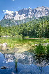 Zugspitze reflection in the water (hjuengst) Tags: lake mountains reflection bayern bavaria berge spiegelung eibsee zugspitze reflektionen