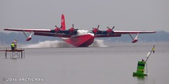 A graceful arival (arcticrail) Tags: eaa oshkosh airventure airplane airshow waterbomber fire fighting water bomber coulson flying tankers martin mars boat seaplane base wisconsin radial curtis wright engine lake winnebago