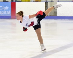 """""""knockout"""" skater (R.A. Killmer) Tags: skill smile speed skate fast graceful girl teens talented ice performer costume blades"""