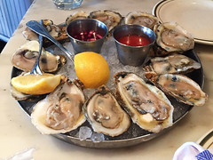 Fish - Red, White + Blue Special (Blue Point Oysters) (willy cheesesteak) Tags: food ny nyc westvillage fish newyork newyorkcity seafood oysters bluepointoysters