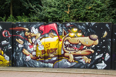 3 Eyed Guard Dog (Dutch_Chewbacca) Tags: graffiti berenkuil eindhoven rockcity art 040 noordbrabant netherlands dutch holland spray can colors canon dlsr sigma 23 july 2016 summer saturday weekend pretty street legal guard dog