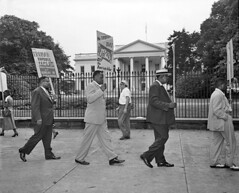 Picket White House against Jim Crow at Bureau of Engraving: 1949 (washington_area_spark) Tags: bureau engraving plate printers us printing discrimination segregation jim crow skilled jobs assistants helpers civil rights protest demonstration picket rally speeches job employment margaret gilmore united public workers america local 3 upwa washington dc white house