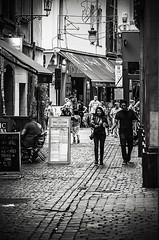 Meat And Bread Street, Brussels (Tom Cuppens) Tags: brussel flickr straatfotografie zwartwit bruxelles brussels vleesenbroodstraat noiretblanc blackwhite blackandwhite bw city center urban life