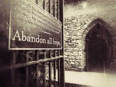 Abandon All Hope (Feldore) Tags: abandon all hope crypt gate spooky tomb forbidden corner england english ghostly sepia vintage haunted feldore mchugh em1 olympus 1240mm