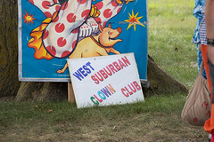 west suburban clown club. august 2016 (timp37) Tags: sign showmens rest illinois august 2016 west suburban clown club forest park woodlawn cemetary