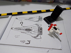 SHIPtember things... (cmaddison) Tags: lego shiptember wip sketch battlestargalactica viper micro spaceship scifi toy