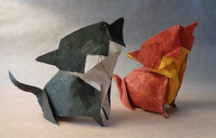 Gatos (mrmicawer) Tags: papiroflexia origami papel gatos cats felinos mascotas pets