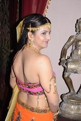 South Actress CHARULATHA Hot Photos Set-2- at Sri Ramanujar film shooting (18)
