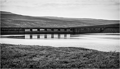 Cow Green . (wayman2011) Tags: canon50d lightroom wayman2011 bwlandscapes mono reservoirs dams reflections pennines dales teesdale cowgreen countydurham uk