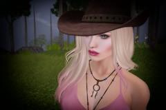 Booo Doolittle (Charles Parker_) Tags: booodoolittle charlesparker secondlife portraits avatars blonde hat country soft tasteful headshot digitalart virtualart hairstyle glamour