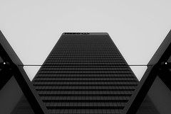 Molothic... (JH Images.co.uk) Tags: london canarywharf bw blackandwhite skyscraper signature series crossrail sky tower hsbc art architecture lines symmetry symmetric