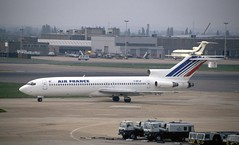 F-BPJP. Air France Boeing 727-228 (Ayronautica) Tags: heathrow aviation july scanned 1991 boeing airfrance airliners 727 egll b722 727228 fbpjp ayronautica