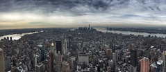 Taken today on the Empire State Building 86th Floor Observatory 16-3-2015 (Enda Burke) Tags: city nyc newyorkcity vacation usa newyork building tourism america liberty holidays state worldtradecenter esb empire hudsonriver empirestatebuilding wtc hudson flatron statueoflliberty