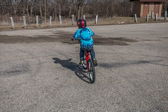 Off and Running! (114berg) Tags: new bike canal illinois ride matthew hennepin geneseo 16march15