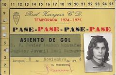 Carnet de jugador juvenil del Real Zaragoza