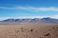 Siloli Desert, Potosí, Bolivia (wannesbos) Tags: travel blue wild sky mountains travelling southamerica nature landscape bolivia andes traveling piles highaltitude naturephotography travelphotography rockpiles wildplaces stonepiles