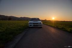 Mitsubishi Evolution 9 (erwin.banicek) Tags: sunset sun car japan racecar photography low 9 evolution shooting mitsubishi driftcar cultworks