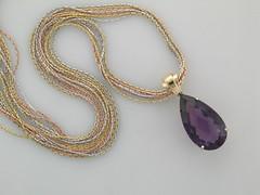 Brazilian amethyst pendant