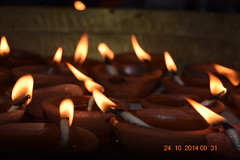 earthen light pots (zindagi in pics) Tags: india home victory celebration diwali ram deepawali bhopal ayodhya