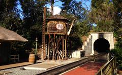 Disneyland Railroad Water Tower (hupspring) Tags: trees disneyland watertower tunnel disney trainstation southerncalifornia orangecounty anaheim traintrack neworleanssquare disneylandrailroad dlrr frontierlandstation