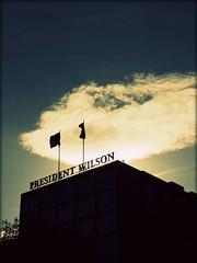 Hotel President Wilson, Geneva, Switzerland (Wagsy Wheeler) Tags: cloud silhouette clouds hotel switzerland suisse geneva geneve flag flags suiss presidentwilson quaiwilson hotelpresidentwilson presidentwilsonhotel quaiwilson47