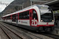Zentralbahn ZB Gelenktriebwagen ABeh 160 005 - 2 FINK ( Flinke innovative Niederflur Komposition  3 - teilig => Triebwagen der Firma Stadler Rail ) am Bahnhof Interlaken Ost im Berner Oberland im Kanotn Bern der Schweiz (chrchr_75) Tags: train schweiz switzerland suisse swiss eisenbahn zug april zb christoph svizzera bahn treno schweizer suissa 2015 zentralbahn chrigu bahnen chrchr hurni chrchr75 chriguhurni albumbahnenderschweiz chriguhurnibluemailch albumzentralbahn albumbahnenderschweiz201516 albumzzz201504april