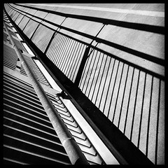 Bridge shadows (Deb Jones1) Tags: travel bridge light bw architecture buildings square bay shadows walk patterns structures bridges australia places squareformat byron 4s iphone brunswickheads flickrawards iphoneography instagramapp uploaded:by=instagram flickduel debjones1
