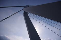 Erasmusbrug (mboeters) Tags: bridge shadow sun lines rotterdam blauw bleu brug schaduw zon erasmusbrug lijnen