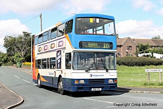 Stagecoach East Midlands Volvo Olympian R161VPU (16061) on Bellingham Road, Scunthorpe, 14/07/2016
